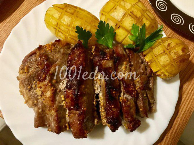 Запеченная свинина в медовогорчичном соусе  Коронное блюдо
