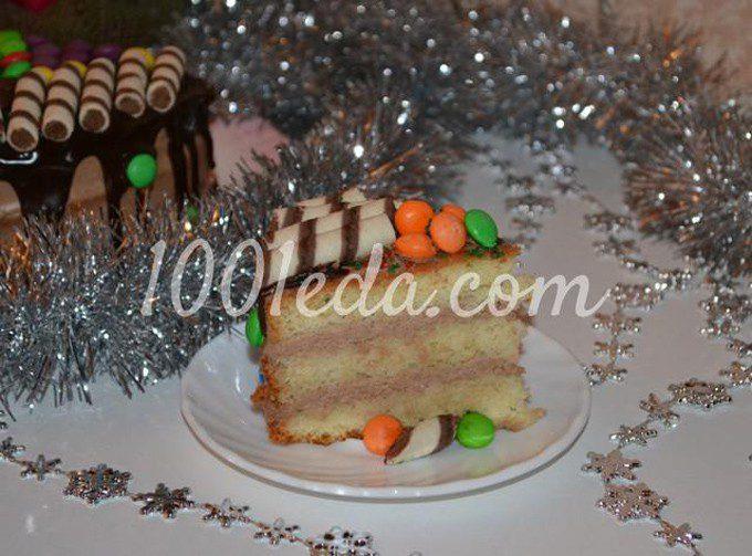 Бисквитный торт Новогоднее конфетти