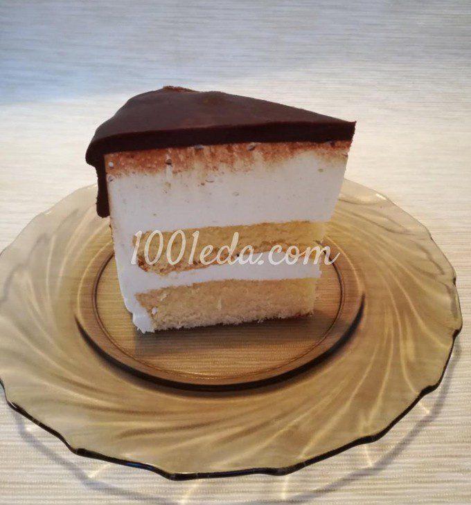 Торт Птичье молоко на агаре с ванильным бисквитом