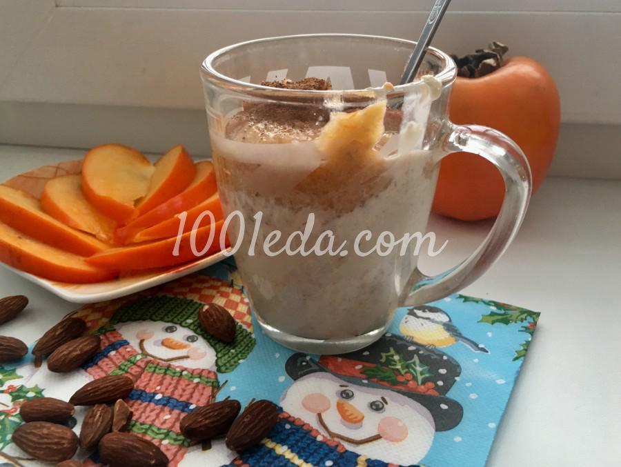 Полезный завтрак: смузи из хурмы и овсянка