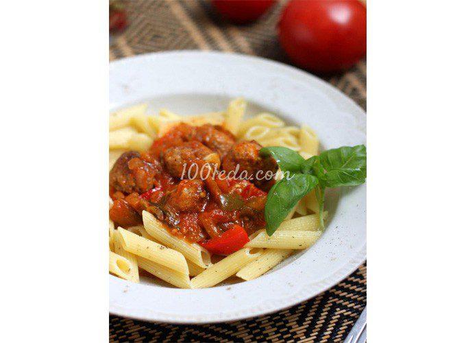 Тефтели в томатном соусе с перцем и баклажаном