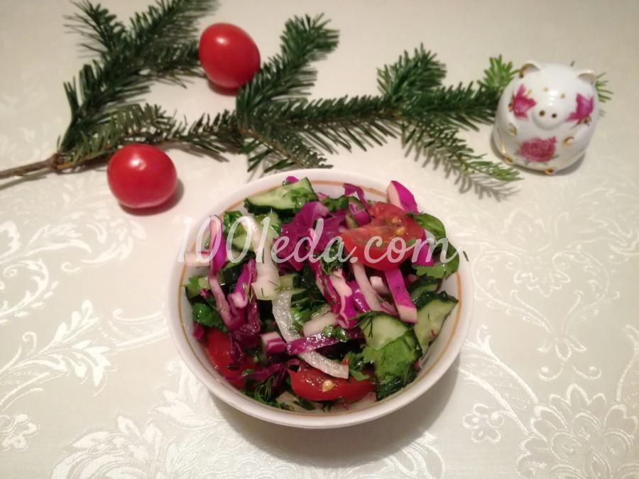 Легкий салат из краснокачанной капусты
