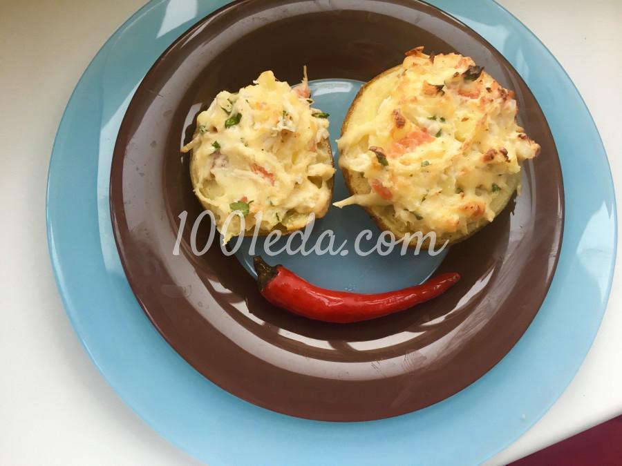 Картофель запечённый в мундире с начинкой: пошаговый с фото