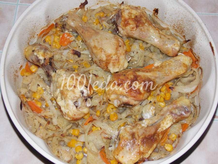 Куриные голени на овощах