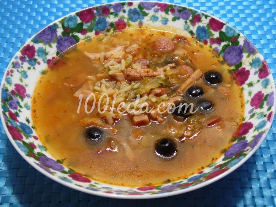 Суп солянка с рисом: пошаговый с фото