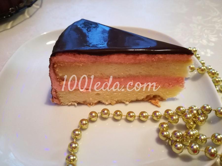 Торт с шоколадно-зеркальной глазурью: пошаговый с фото