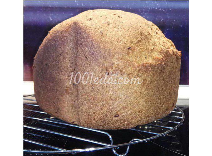 Диетический хлеб из цельнозерновой муки с семенами льна в хлебопечке: пошаговый с фото