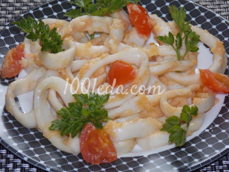 Кольца кальмаров с чесноком и черри в мультиварке: пошаговый с фото