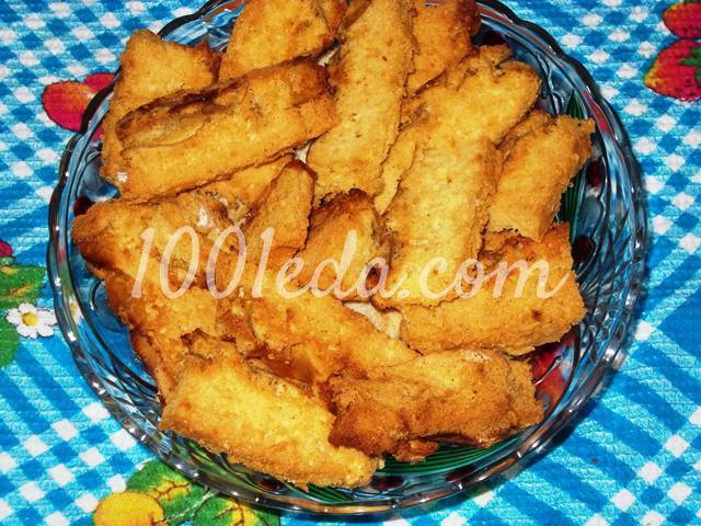 Вкусные домашние сухарики Непропадайки из бисквитного пирога: пошаговый с фото