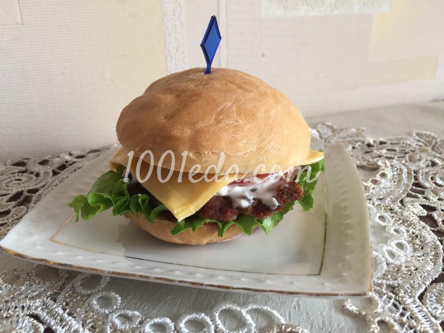 Сочный чизбургер: пошаговый с фото