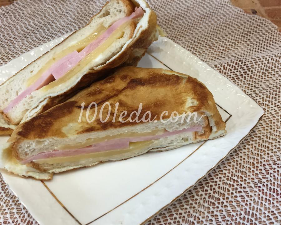 Питательные бутерброды с ветчиной: пошаговое фото