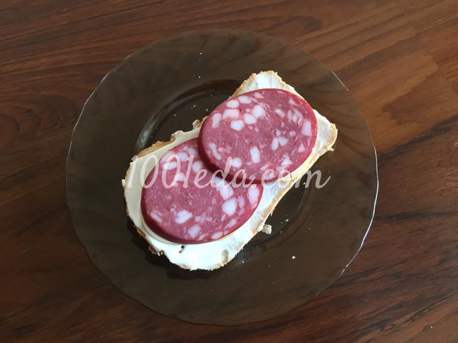 Быстрый сэндвич с колбасой: пошаговый с фото - Шаг №3
