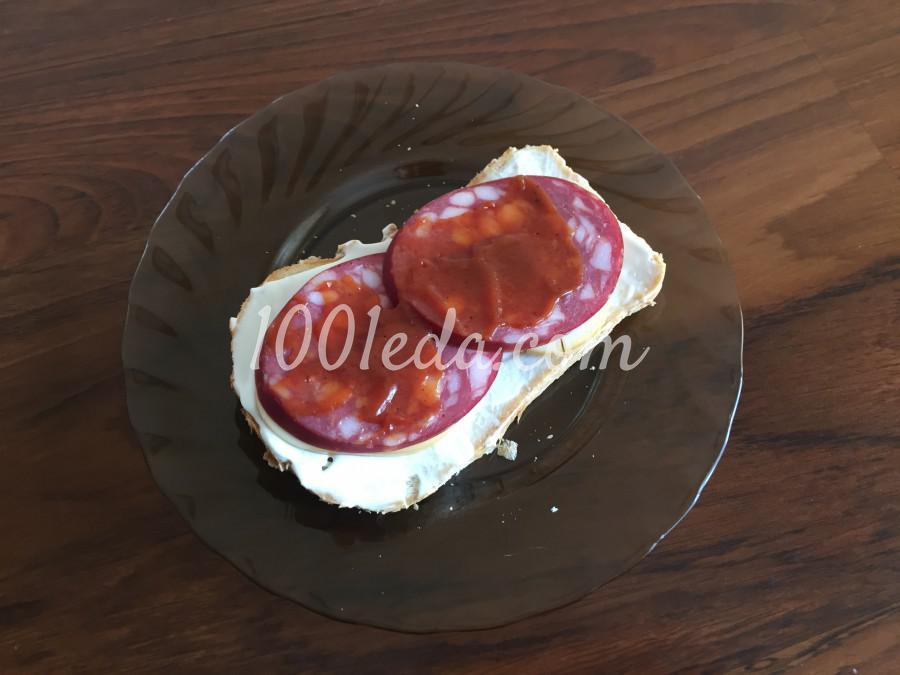 Быстрый сэндвич с колбасой: пошаговый с фото - Шаг №4