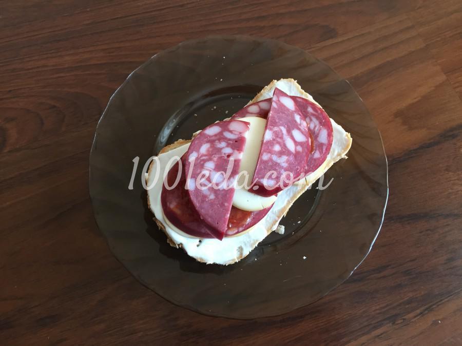 Быстрый сэндвич с колбасой: пошаговый с фото - Шаг №5