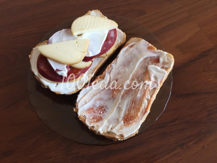 Быстрый сэндвич с колбасой: пошаговый с фото - Шаг №7