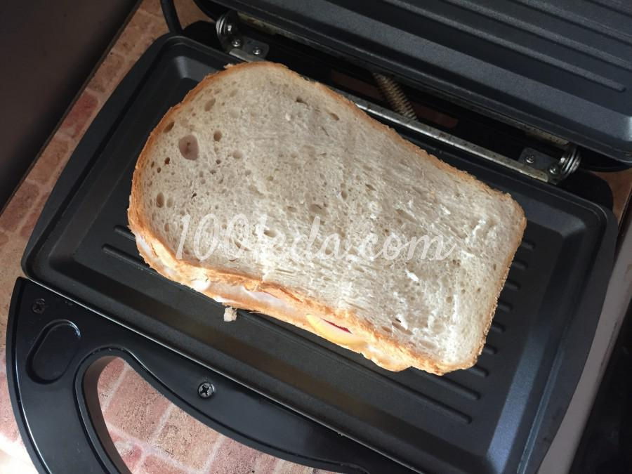 Быстрый сэндвич с колбасой: пошаговый с фото - Шаг №8
