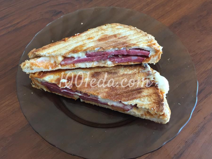 Быстрый сэндвич с колбасой: пошаговый с фото