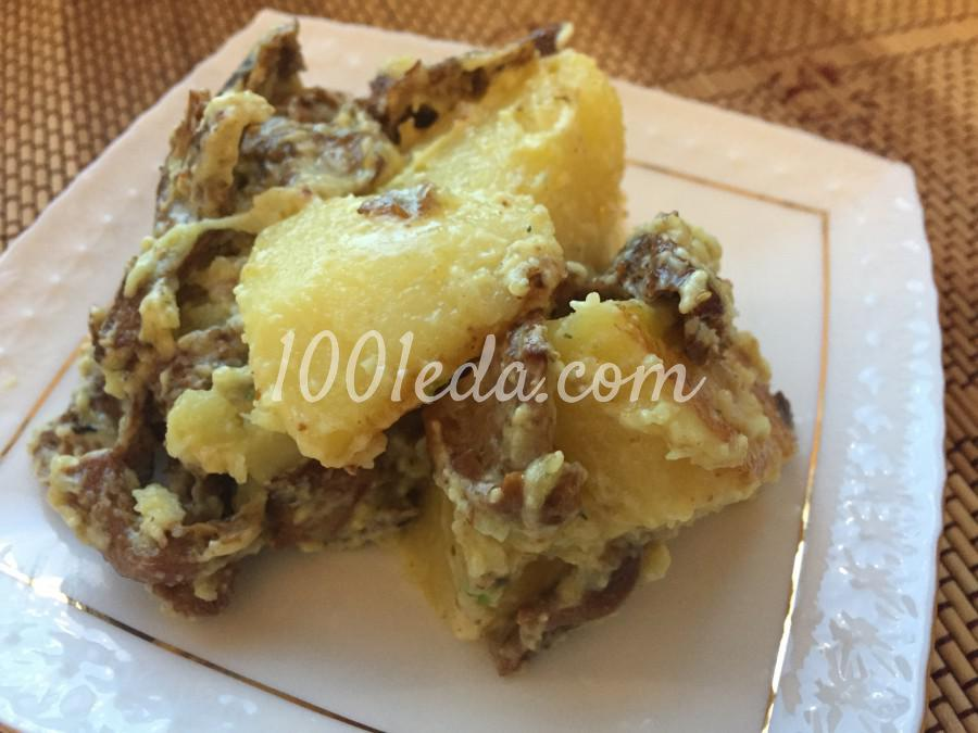 Картофель с грибами: пошаговый с фото