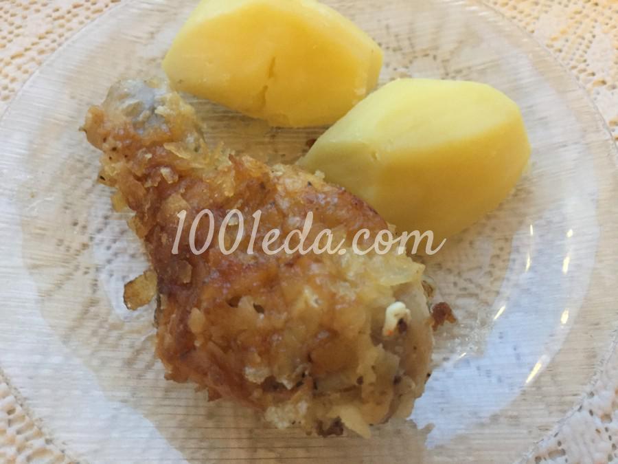 Куриные голени в чипсах: пошаговое фото