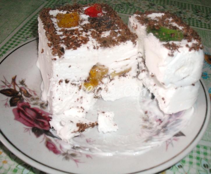 Торт-мороженое с мармеладом: пошаговое фото