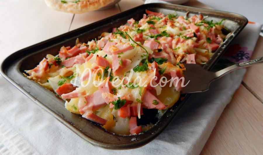 Запеканка с колбасой и сыром: пошаговый с фото
