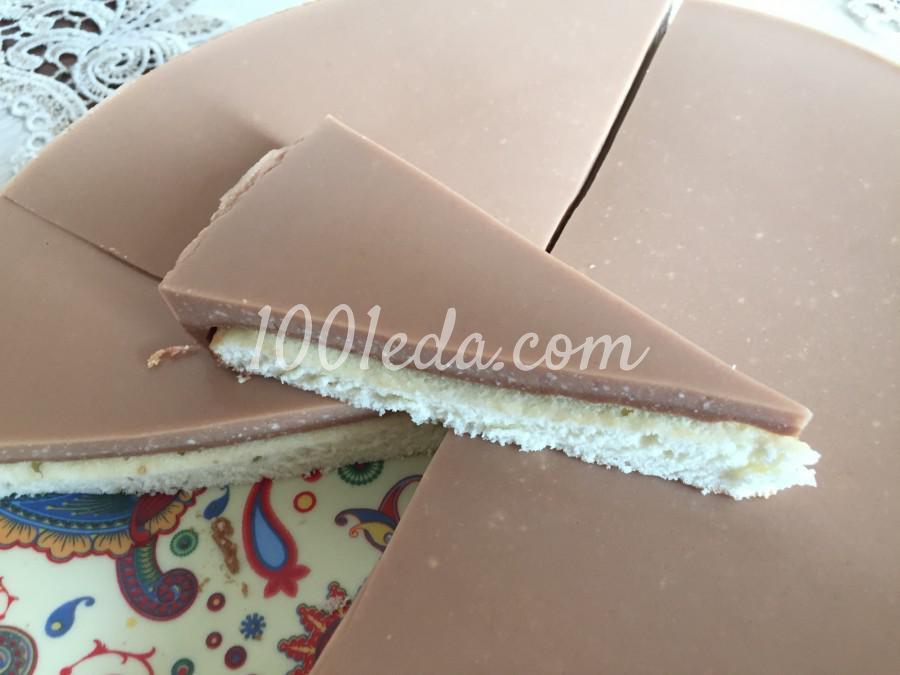 Торт бисквит в шоколадном желе: пошаговый с фото