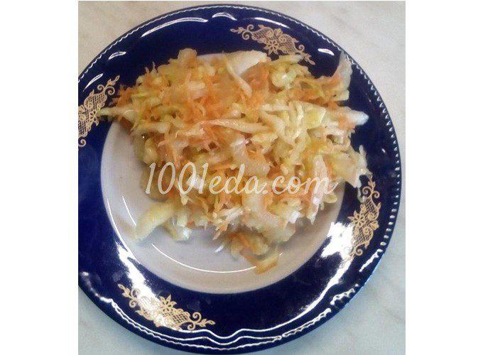 Салат из белокочанной капусты и сельдерея с заправкой из бальзамического уксуса: пошаговое фото