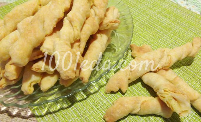 Слоеные сырные палочки: пошаговый с фото