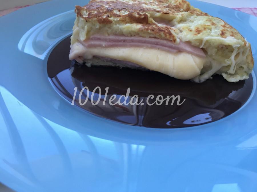Быстрый картофельный пирог с ветчиной и сыром: пошаговый с фото