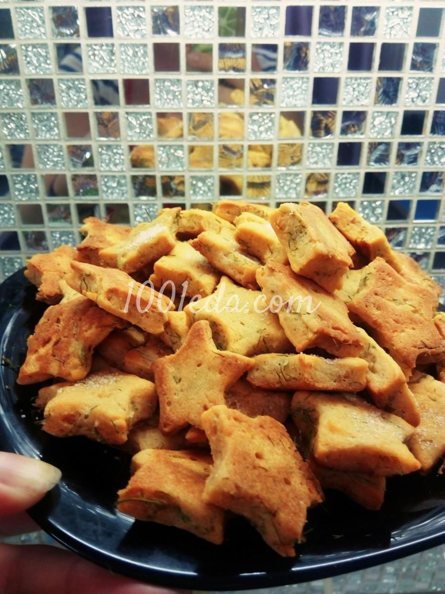 Несладкое печенье с укропом и томатным соком: пошаговый с фото