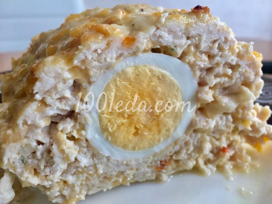Рулет из куриного фарша с яйцом: пошаговый с фото