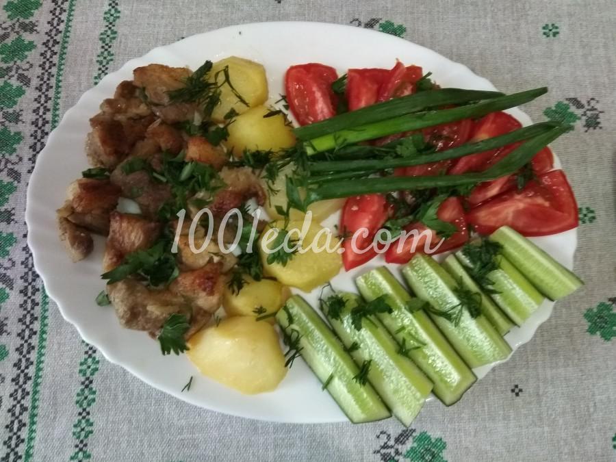 Свиная лопатка с картофелем в духовке: пошаговый с фото