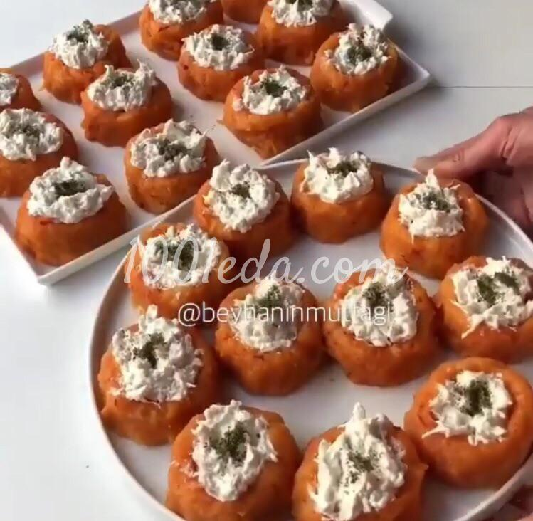 Курица в картофельных чашечках: пошаговое фото