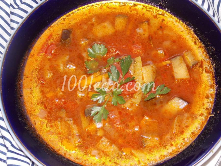 Суп из баклажанов с чечевицей: пошаговый с фото