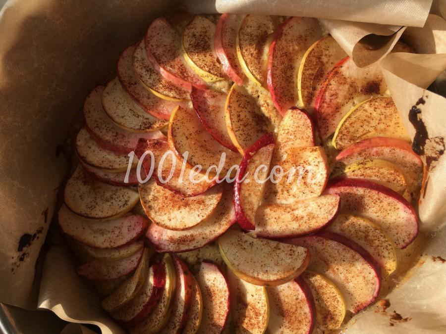 Яблочный пирог с овсянкой и корицей: пошаговый с фото