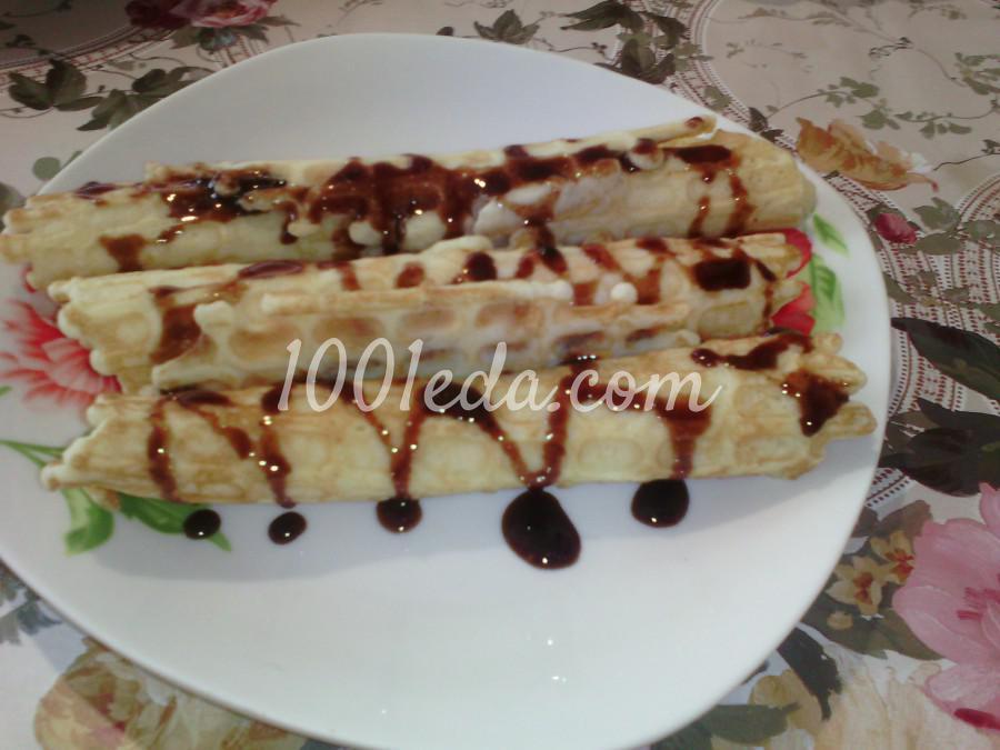 Вафельные трубочки с шоколадной помадкой