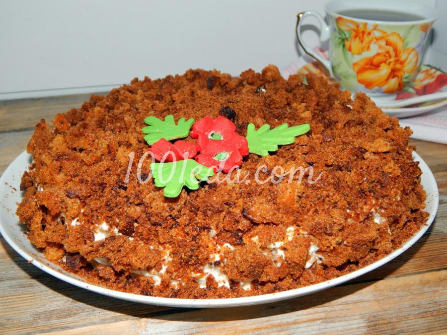 Торт на кефире с вареньем: пошаговое фото