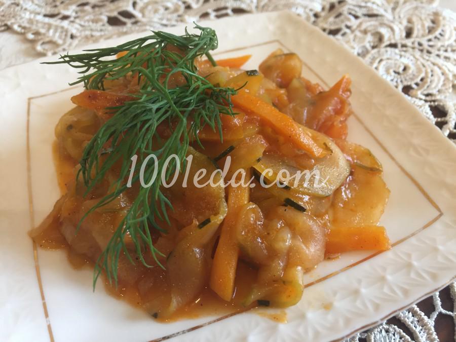 Овощное рагу с огурцом: пошаговое фото