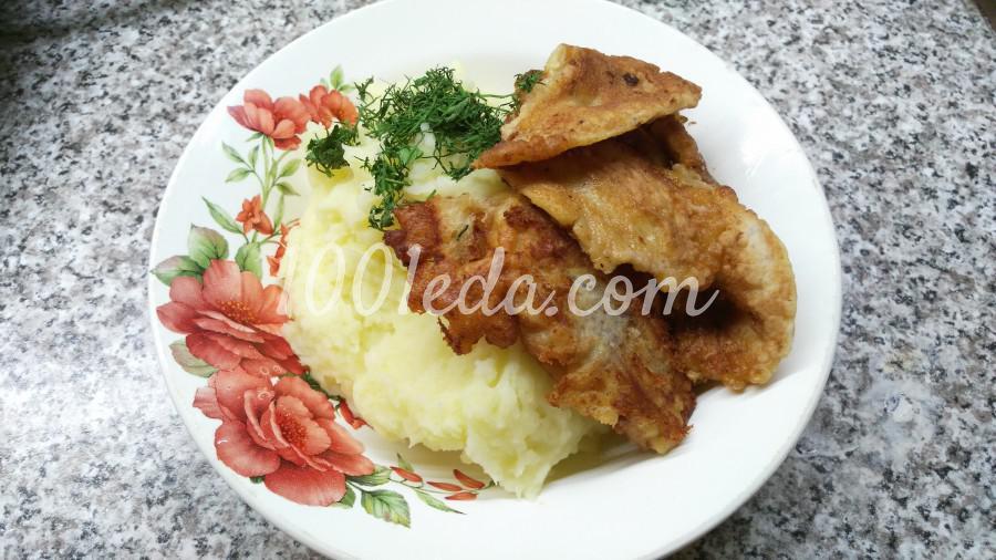Минтай в кляре с картофельным пюре: пошаговый с фото