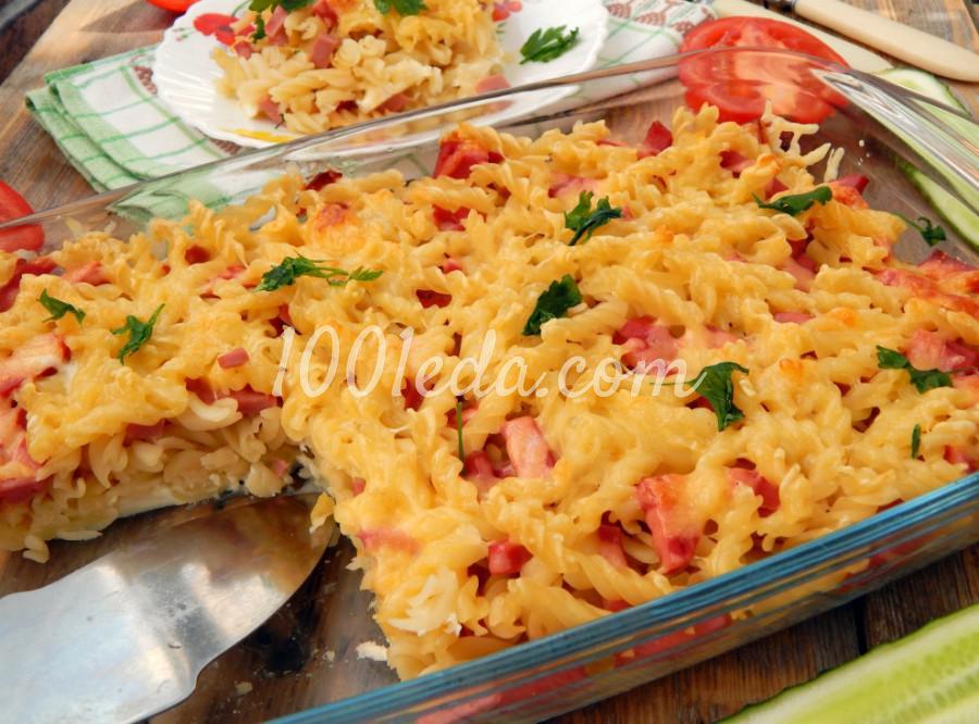 Запеканка из макарон с колбасой и сыром: пошаговый с фото