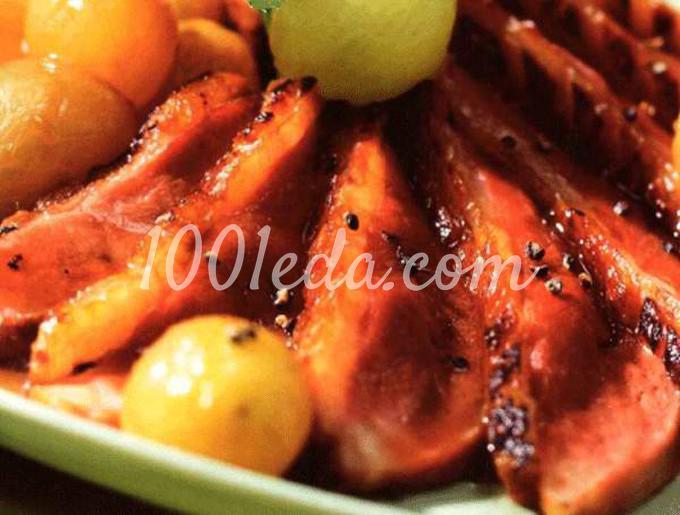 Утиная грудка с пряностями под виноградным соусом