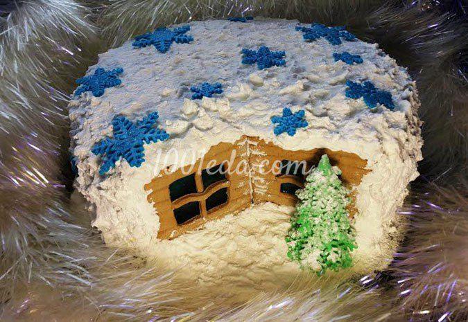 Торт Новогодняя избушка