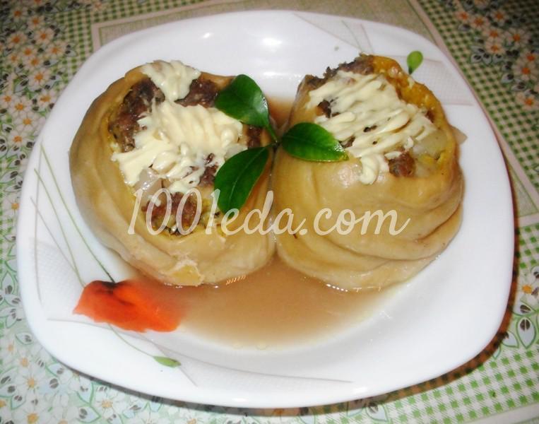 Штрудель с мясом и картофелем в духовке: пошаговый с фото