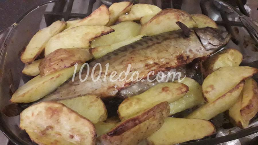 Скумбрия запечённая в духовке с картофелем