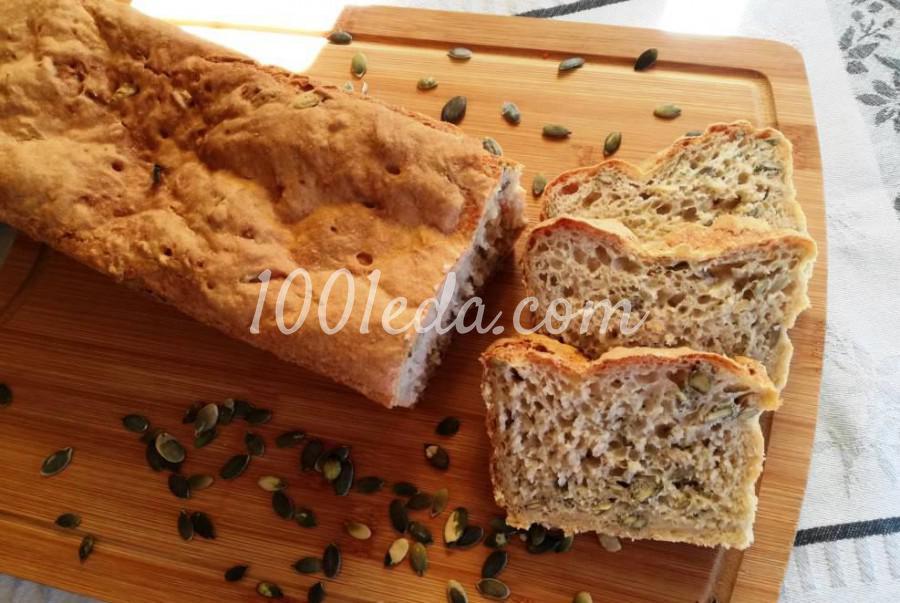 Пшенично-ржаной хлеб с тыквенными семечками: пошаговый с фото