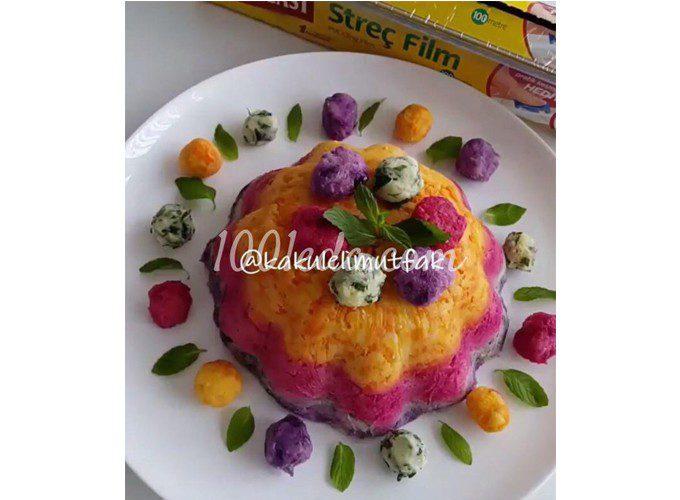 Яркий картофельный салат: пошаговый с фото