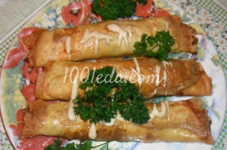 Закуска Бризоли с грибами и мясом: пошаговое фото
