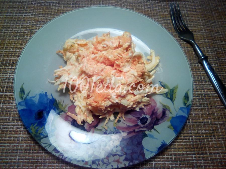 """Салат из моркови, яиц и подавленного сырка """"Рыжик"""": пошаговый с фото"""