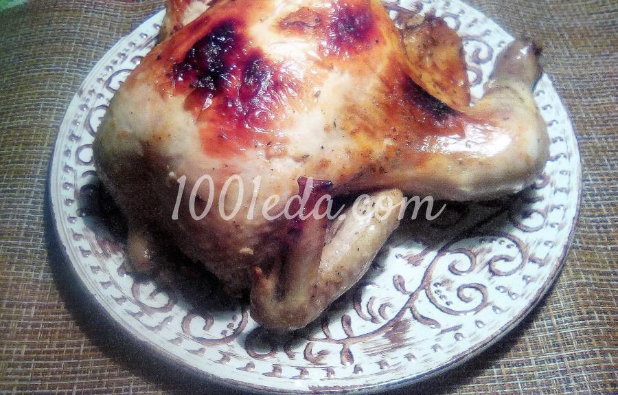 Курица, запечённая целиком в рукаве в духовке: пошаговое фото