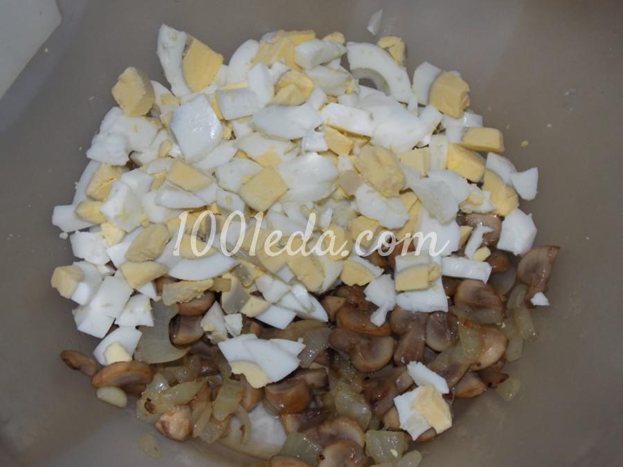 Салат с грибами и морской капустой: пошаговый с фото - Шаг №3